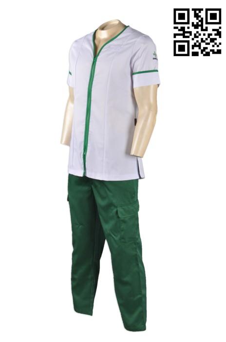 NU030 醫護套裝制服 來版訂做 Logo繡花診所制服 診所制服款式設計 診所制服製造商  醫護衫褲