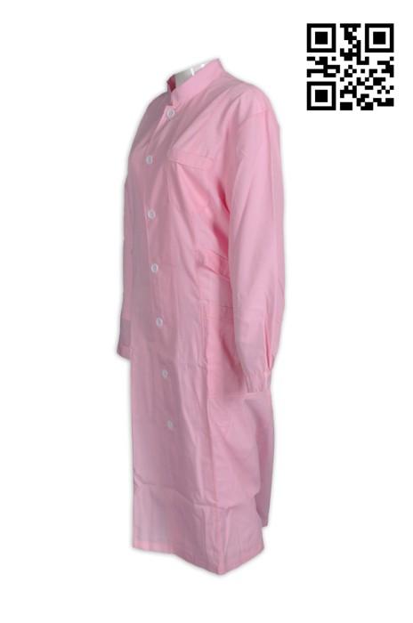 NU033供應粉色護士袍 個人設計診所專用服 度身訂造護士制服 護士制服專門店