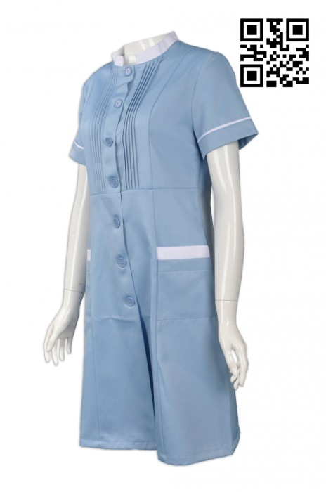 NU038  度身訂造護士制服 設計護士裙裝  打閘 款式 一件套 連身長裙 牙科護士 來樣訂造護士制服 護士制服hk專營