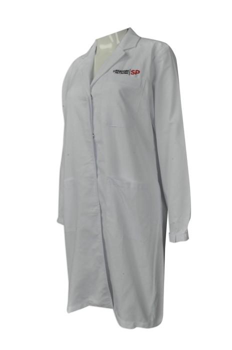 NU043  來樣訂造醫生袍  網上下單實驗袍   化妝品零售制服 實驗長袍 設計新加坡 Polytechnic  醫生袍hk中心