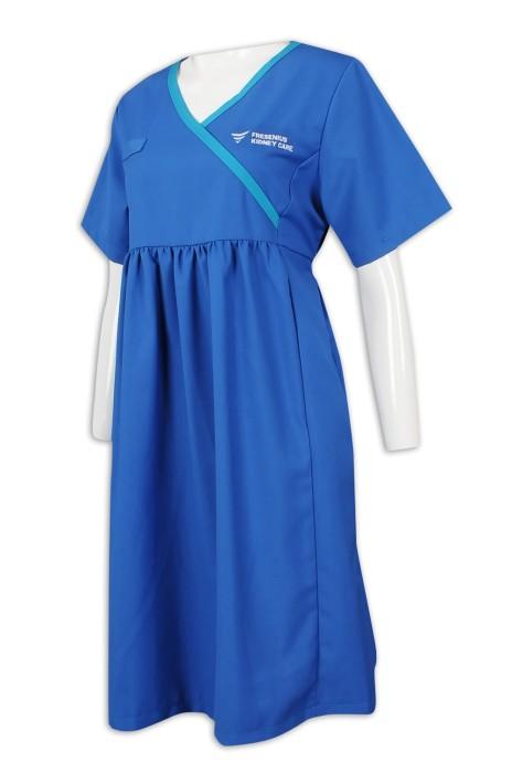 NU052 訂製醫護人員制服  孕婦裝  65%滌 35%棉 診所制服生產商