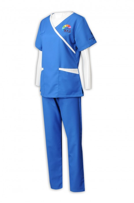 NU063  訂做女護士制服套裝 醫院 診所工作人員制服 65%滌 35%棉 診所制服供應商 護理制服, 耐高溫洗