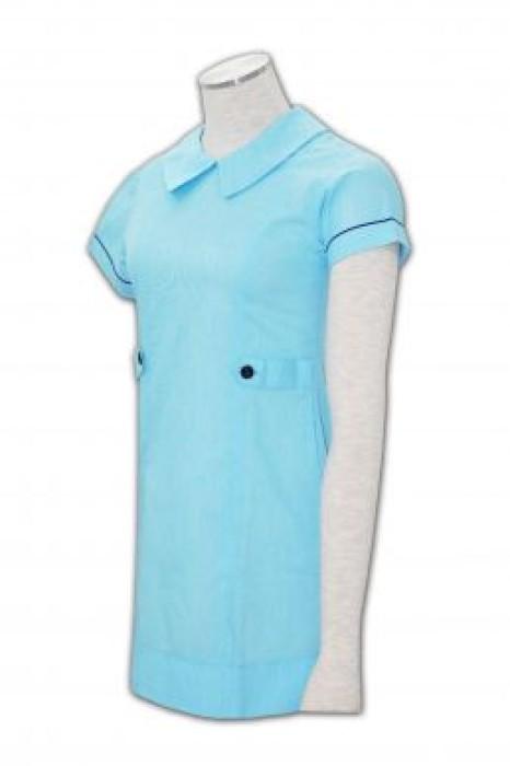 NU002 團體制服在線訂購 護士制服款式 裙式護士服 護士制服公司
