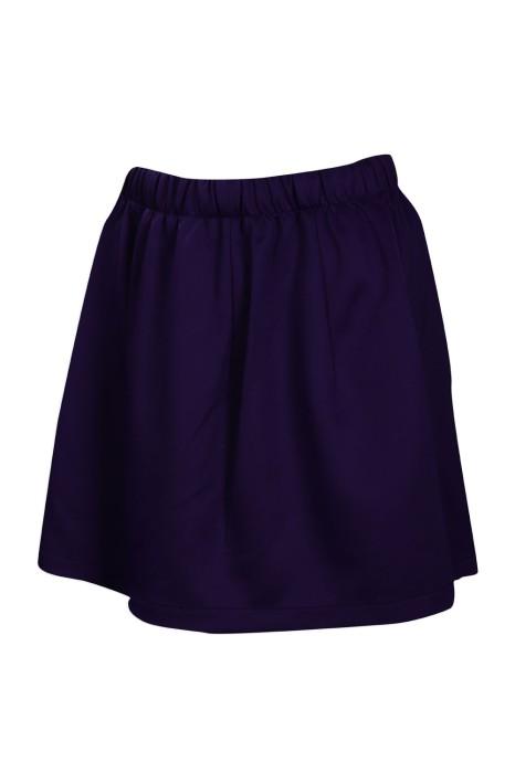 CH190 設計淨色啦啦隊半身裙 彈力 針織 啦啦隊服製造商