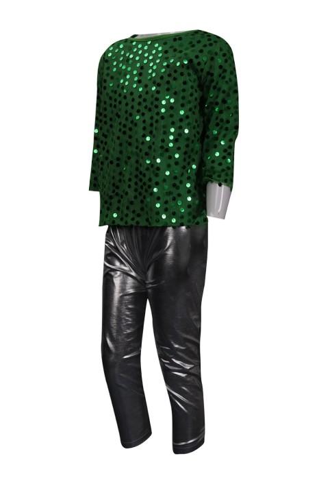 CH192 訂製男裝啦啦套裝 BLING BLING 珠片閃光 鄭觀應公立學校 澳門 啦啦隊服製造商 童款