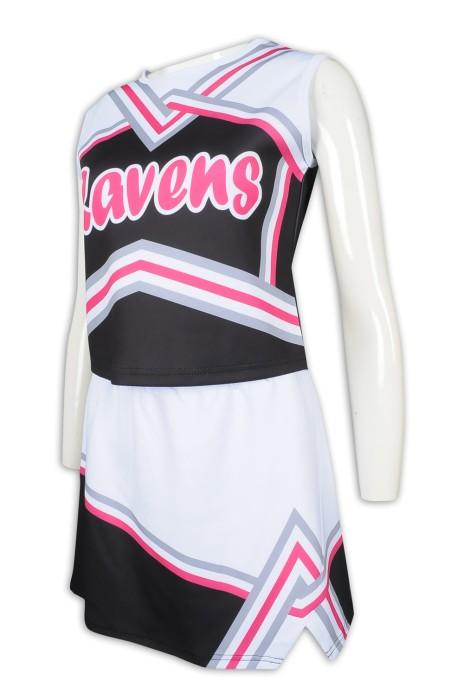 CH194 製作裙裝無袖啦啦隊服  時尚啦啦隊服套裝  啦啦隊服製造商