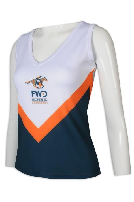 CH200 來樣訂做啦啦隊 女裝 V領 背心 露肩 修腰 啦啦隊生產商