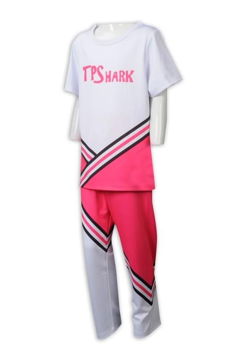 CH202 來樣定製男裝啦啦隊服 設計分體套裝啦啦隊服 啦啦隊服工廠