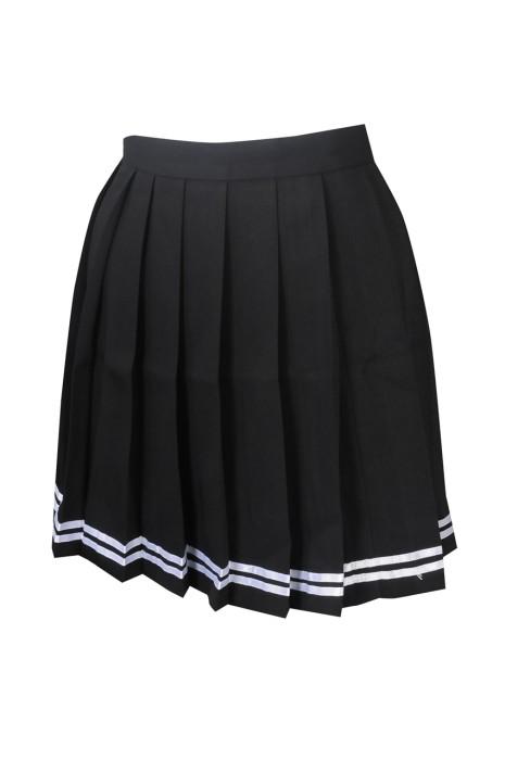 GH205 製造半身啦啦隊裙 自訂百褶裙啦啦隊裙 排練 隱形拉鏈 啦啦隊裙供應商