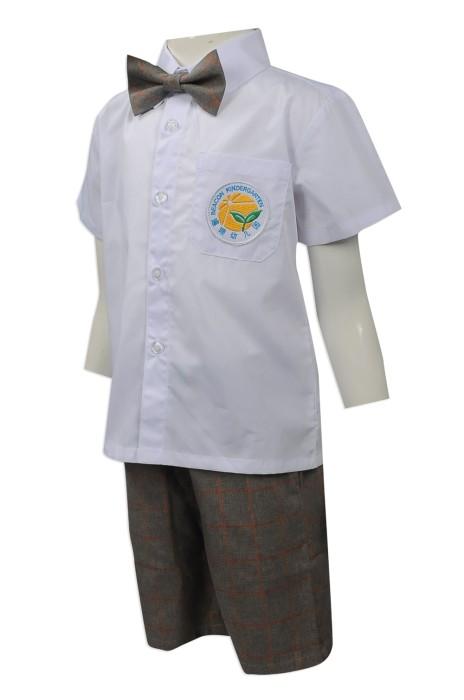 SU268 度身訂做幼稚園男童校服套裝 團體訂購幼稚園校服套裝 設計小童校服供應商