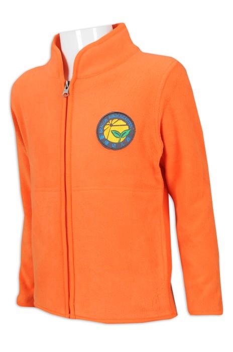 SU281設計兒童衛衣校服外套 100滌  校服製衣廠