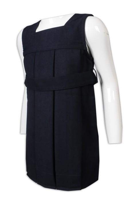 SU286 設計女款校服 童裝校服連衣裙 70%滌 30%羊毛 露肩 露膊 加拿大 校服供應商