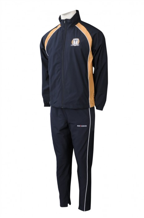 SU303 訂製橡筋袖口校服運動套裝 自訂LOGO校服運動套裝 校服運動套裝製衣廠