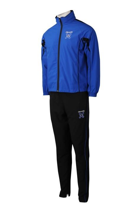 SU304 製造男裝校服運動套裝 設計多功能領口校服運動套裝 校服運動套裝生產商