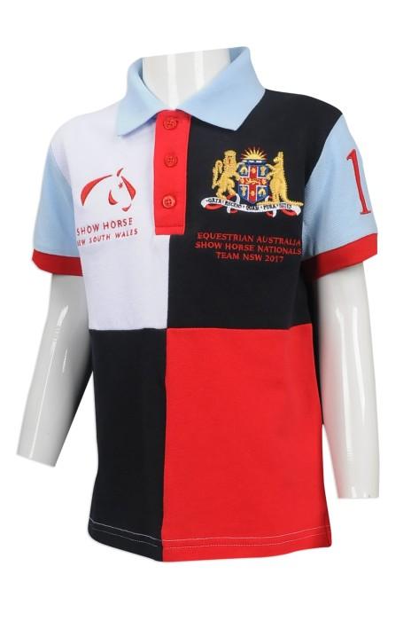 KD048 設計個性兒童Polo恤  大量訂造活動用Polo恤  澳洲 TFS 親子活動 家庭套裝 親子 網上下單Polo恤  童裝製衣廠