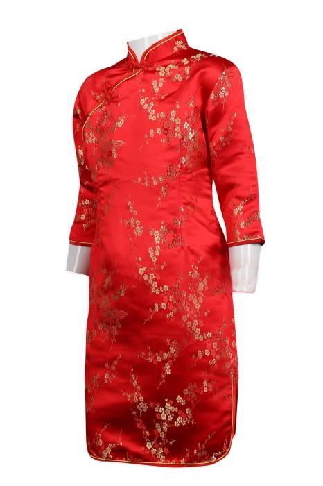 KD053 製作童裝紅旗袍  童裝製造商