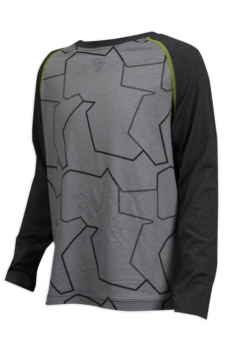 KD065 設計牛角袖長袖T恤 蝦蘇線 唧邊 童裝生產商