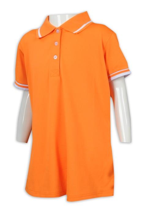KD078 製作童裝淨色Polo恤 童裝製衣廠