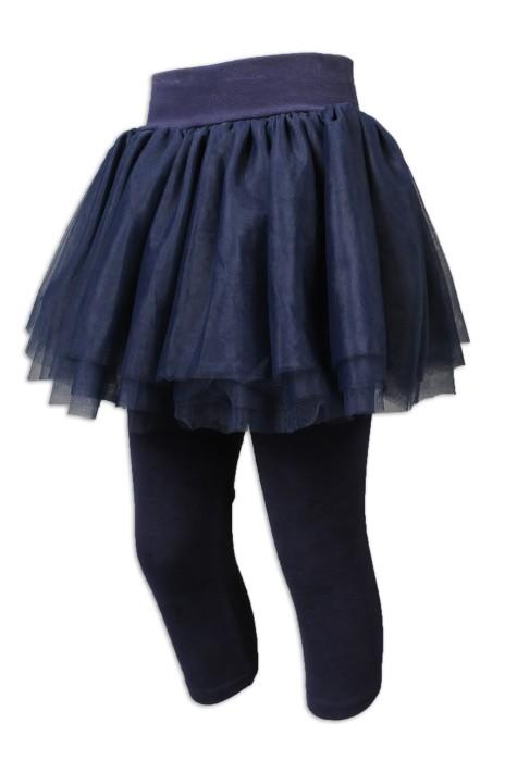 KD090 訂製女童花紗裙 跳舞裙 連褲裙 95%棉 5%氨綸 台灣 童裝生產商 藍色
