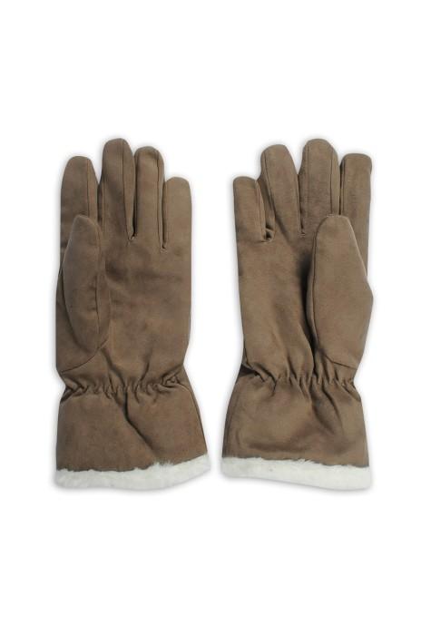 A219 訂做麂皮手套 冬季保暖手套 加絨 配飾供應商