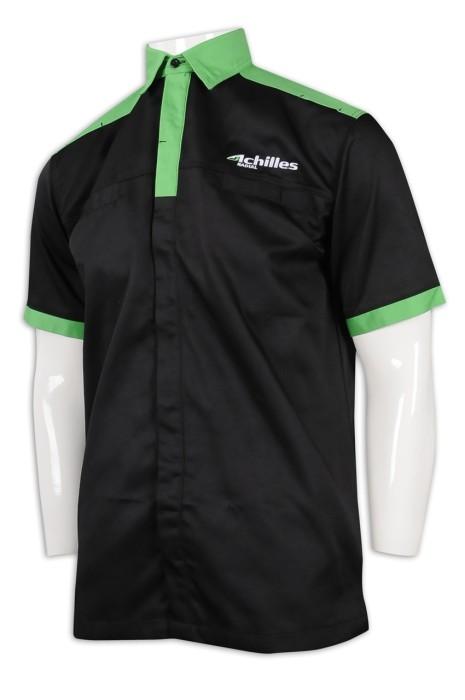 DS073 來樣訂造車隊衫 個人設計車隊衫 滌棉厚紗卡 車隊衫製衣廠