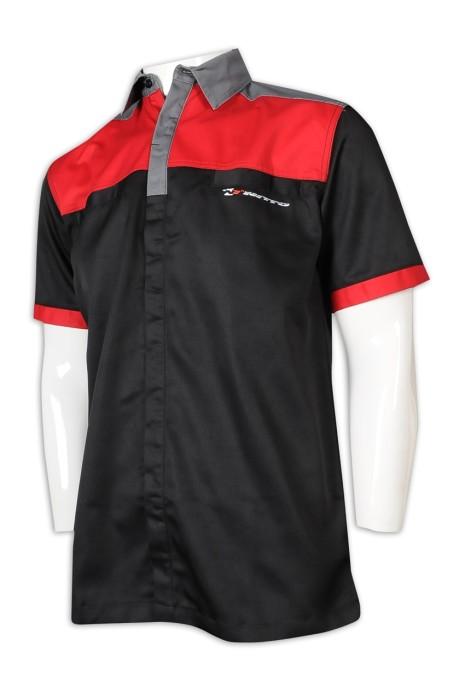 DS071 個人設計車隊衫 來樣訂造車隊衫 滌棉厚紗卡 車隊衫供應商