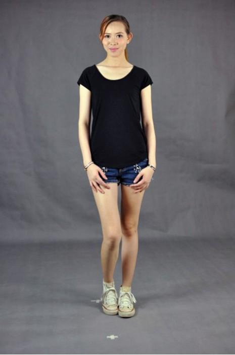 T535 專業訂製圓領T恤  自家製作 真人試穿 模特示範 露背女裝T恤 大圓領  人氣必選tee  t-shirt專門店  tee製服公司