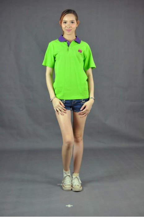P464 自家製作女裝polo衫  MODEL  真人模範 訂做poloshirt服務中心 自訂團體活動poloshirt專門店HK