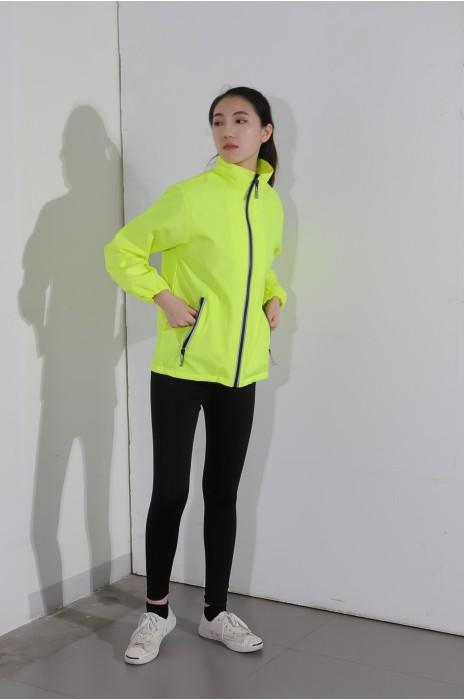 BD-MO-030 訂購個性熒光風褸 真人試穿 自訂輕薄拉鏈外套 風褸外套中心