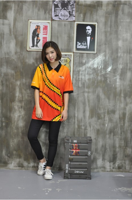 DS042 製造團體活動鏢隊衫 真人展示 模特試穿 印花鏢隊衫 全件印 來樣訂造鏢隊衫 鏢隊衫供應商