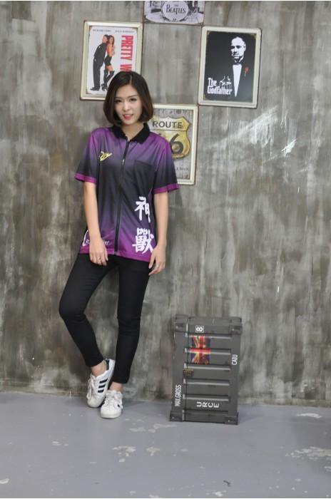 DS056  設計印花鏢隊衫 真人展示 模特試穿 網上下單鏢隊衫 度身訂造鏢隊衫 鏢隊衫製造商