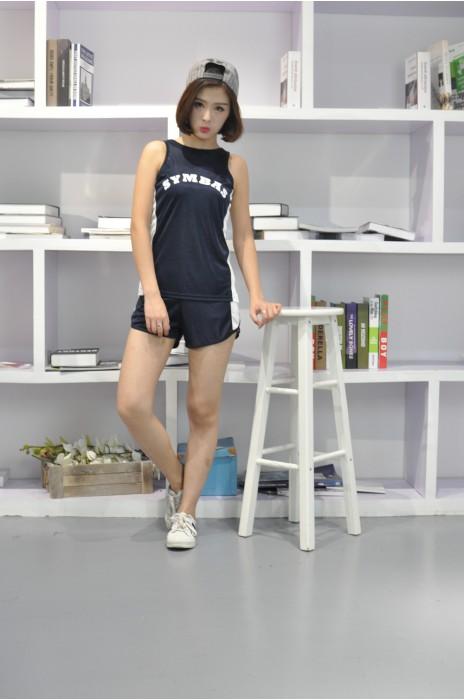 WTV133  設計女裝運動套裝款式   真人示範  自訂LOGO運動套裝款式  籃球 排球 跑步隊衫  訂造輕薄運動套裝款式    運動套裝專營