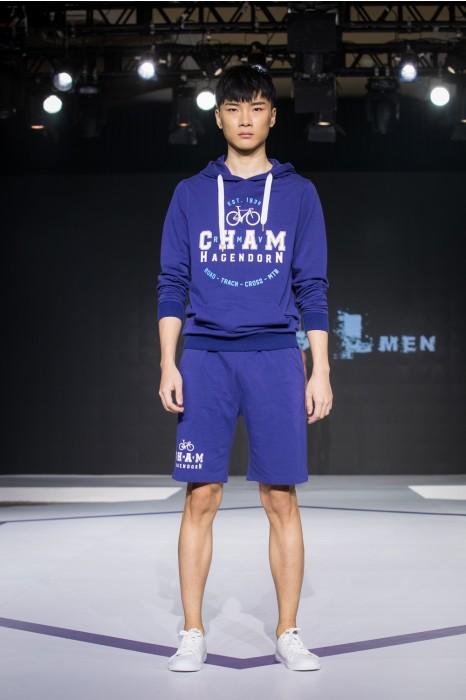WTV149 個人設計男裝運動套裝 真人試穿效果 catwalk show運動套裝 運動套裝hk中心