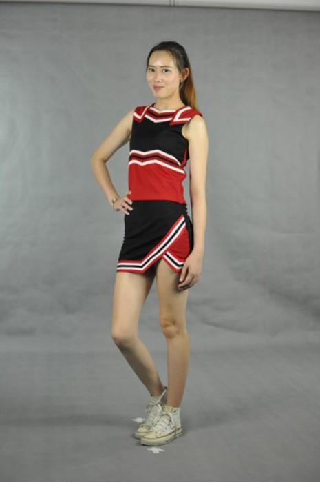 CH101 訂購團體啦啦隊套裝裙 模特展示 真人示範 訂造啦啦隊制服   設計制服套裝款式  啦啦隊生產商HK