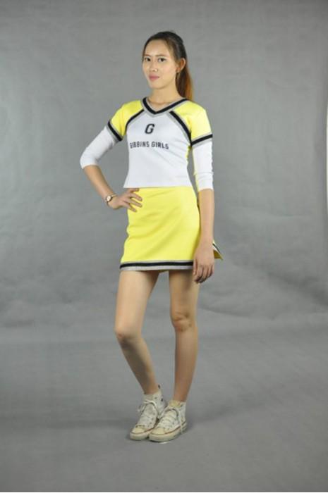 CH102 來樣訂做啦啦隊制服  模特展示 真人示範 自製啦啦隊套裝裙  網上訂購啦啦隊制服  打氣啦啦隊制服批發商HK
