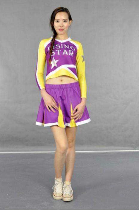 CH103 學際啦啦隊套裝 模特展示 真人示範 度身訂製 百褶撞色裙款啦啦隊服 百褶裙 賽場啦啦隊服 啦啦隊服專門店