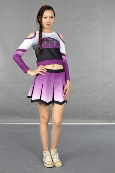 CH109 長袖挖肩設計啦啦隊套裝 模特展示 真人示範 度身訂造 團體印花啦啦隊服 打氣啦啦隊服 啦啦隊服供應商