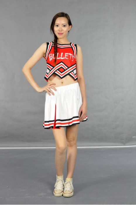CH110 性感短款啦啦套裙 模特展示 真人示範 設計訂造 時尚露腰啦啦隊裙 百褶裙 啦啦隊裙選擇 啦啦隊裙批發商