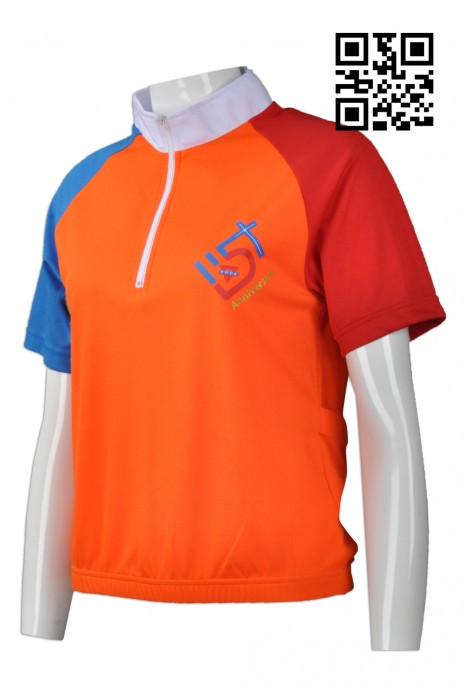 B132 訂購拼色單車衫  設計牛角袖單車衫  三項鐵人 鐵3 網上下單單車衫  單車衫hk中心