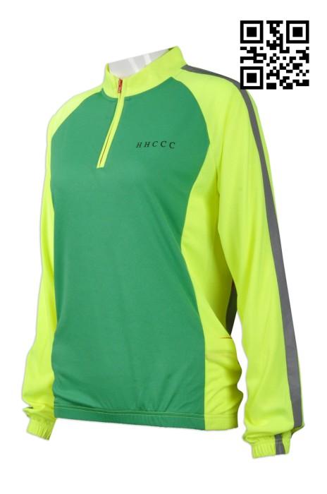 B134 設計反光帶單車衫  訂購拼色單車衫  供應長袖單車衫 單車衫製造商