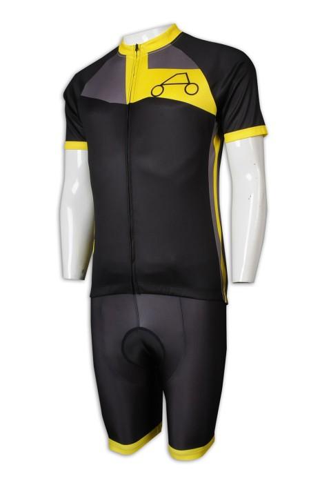 B158 訂造女裝短袖單車衫 撞色 全滌小網眼 外賣 團隊 專業制服 外帶食物 外賣員 140g 單車衫製造商
