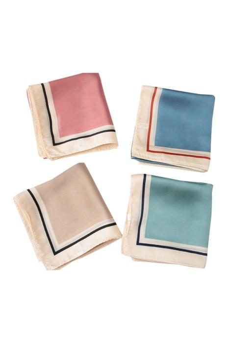 SKSL005 訂做絲巾 時尚設計拼接小方巾絲巾  圍巾 頸巾 絲巾供應商