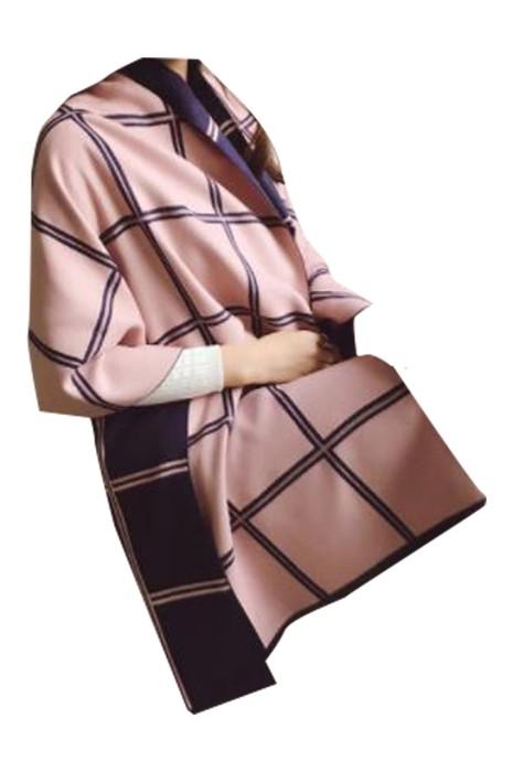 SKSL009  大量訂製雙面格子披肩 設計秋冬保暖圍脖 空調披肩 披肩中心 圍巾當披肩