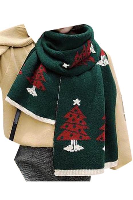 SKSL010 製造聖誕圍巾 設計聖誕logo圍巾 保暖 聖誕圍巾供應商