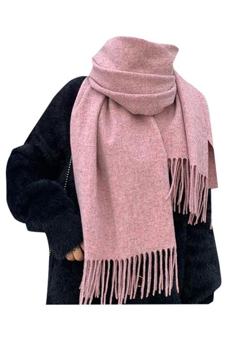 SKSL008 訂製流蘇羊絨圍巾  設計淨色披肩圍巾 保暖 披肩圍巾中心 圍巾當披肩