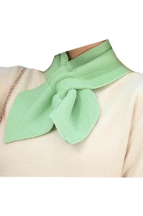 SKSL011 製造蝴蝶結針織圍巾 設計淨色保暖蝴蝶結圍巾 圍巾製造商