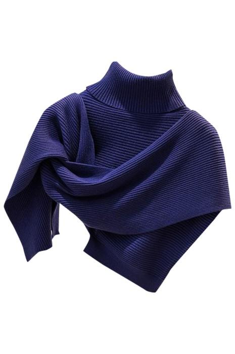 SKSL017 網上訂購淨色針織斗篷圍巾  時尚設計高領披肩保暖不規則圍巾 斗篷圍巾供應商