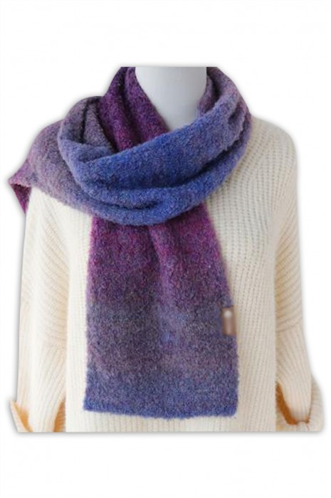 SKSL020 製造長款加厚保暖圍巾  自訂漸變色幼羊駝圍巾  幼羊駝圍巾專門店