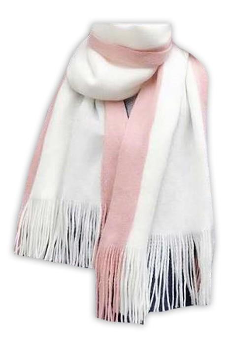 SKSL024  製造長款加厚保暖圍巾 設計流蘇雙色圍巾 圍巾供應商