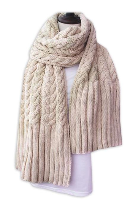 SKSL025 製造麻花粗冷線淨色圍巾 供應披肩加厚手工圍巾 手工圍巾專門店